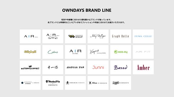 OWNDAYS(オンデーズ)オリジナルブランド リスト