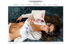Oliver Peoples(オリバーピープルズ)公式サイト(スクリーンショット)