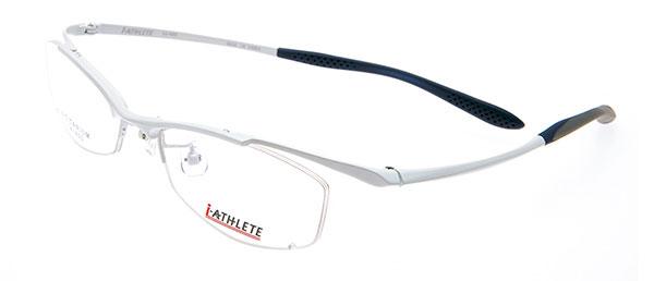 眼鏡市場 i-ATHLETE(アイ・アスリート) IA-402(スタイリッシュナイロールタイプ)。カラー:W(写真)、BK、GR。価格:18,900円(レンズ込み)。