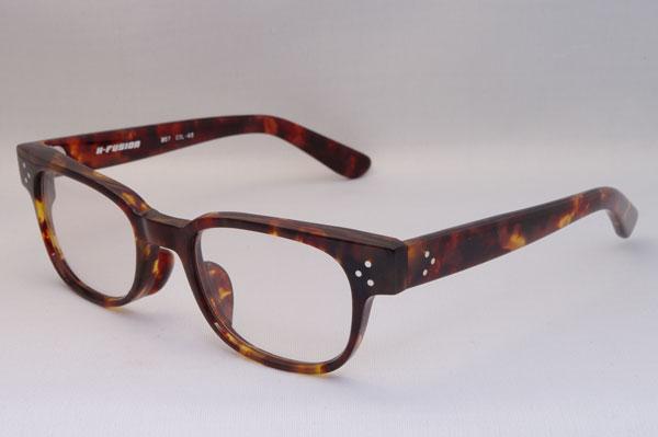 H-FUSION(エイチ-フュージョン) 2011年春夏新作メガネ HF-207 カラー:65(habana brown)。希望小売価格:24,150円。