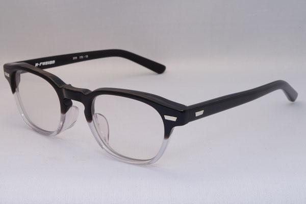 H-FUSION(エイチ-フュージョン) 2011年春夏新作メガネ HF-208 カラー:12(black/clear)。希望小売価格:24,150円。