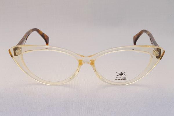 (写真3)BEAUSOLEIL(ボーソレイユ) 2011SS 新作メガネ A2 ※プロトタイプにつき、生産の見込みなし。