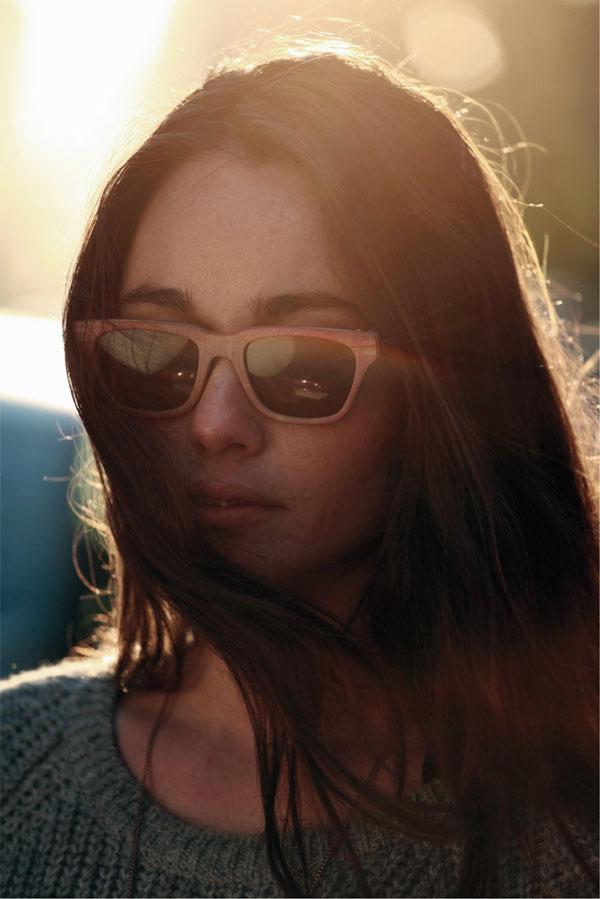(写真6)Vuerich brothers sunglasses の着用イメージ・その1。