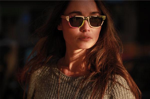 (写真7)Vuerich brothers sunglasses の着用イメージ・その2。
