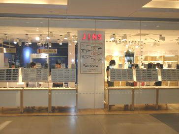 (写真1)JINS(ジンズ)瀋陽大悦城店