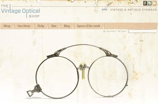 (写真10)The Vintage Optical Shop(スクリーンショット)