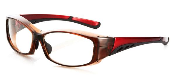 (写真6)花粉らくらく君 KF-003 カラー:クリアブラウン/レッド(写真)、クリアライトグレー/クリアダークグレー、ブラックマット。価格:5,800円。