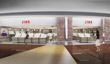 (写真1)JINS 上海環球金融中心店のイメージ。image by JINS