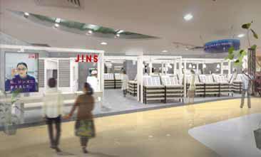 (写真2)JINS 上海梅龍鎮伊勢丹店のイメージ。image by JINS