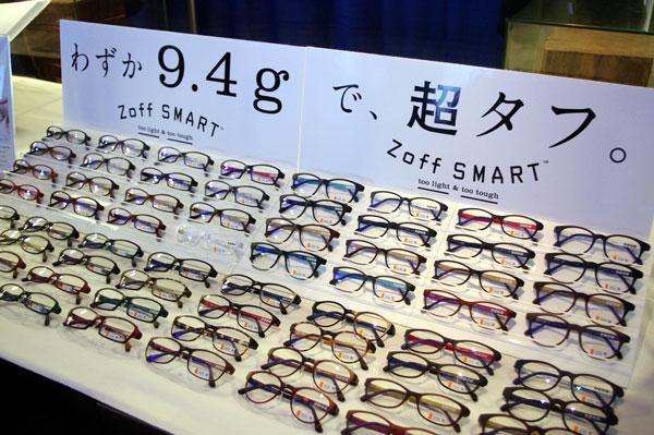 (写真3)Zoff SMART(ゾフ スマート)の新作ラインアップ。【クリックして拡大】