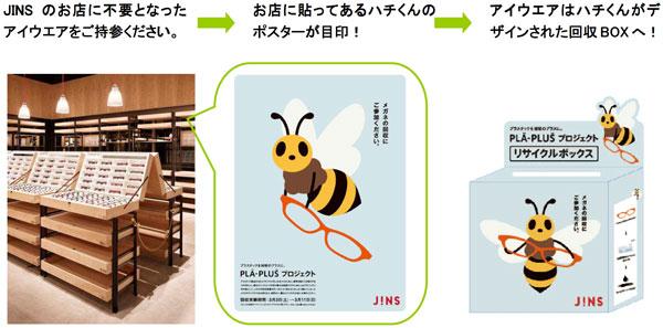 (写真3)JINS(ジンズ)各店にある回収ボックスに不要になったメガネ・サングラスを入れればOK。image by JINS