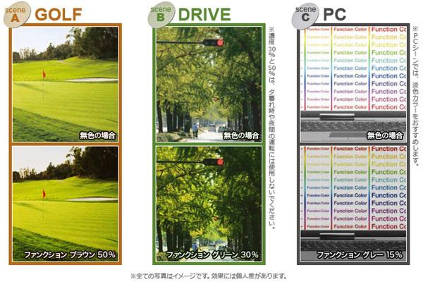 (写真5)セイコーオプティカルプロダクツの「ファンクションカラー」。
