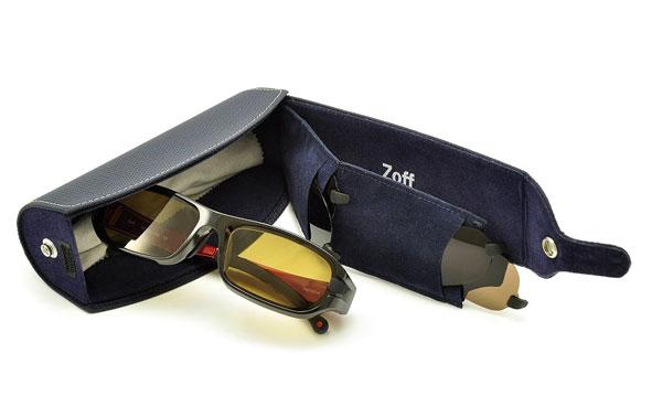 (写真12)Zoff FISHING(ゾフ・フィッシング)についてくる専用ケースには、3つの偏光フィルターも収納可能。image by インターメスティック 【クリックして拡大】