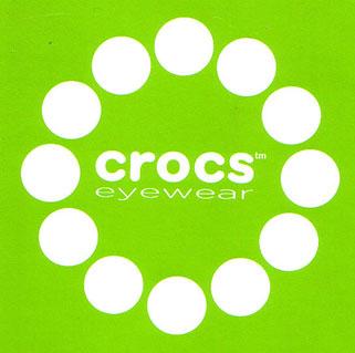 (写真3)crocs eyewear(クロックス アイウェア)のロゴマーク。image by SEED