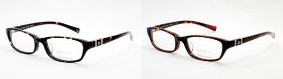 (写真3)OWNDAYS × Made with SWAROVSKI ZIRCONIA SWA2002。(左)カラー1:ブラックデミ。(右)カラー2:ブラウンデミ。image by OWNDAYS