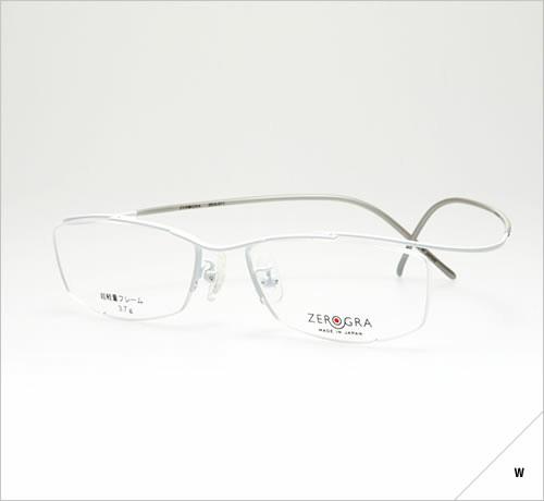 (写真1)眼鏡市場 ZEROGRAⅡ(ゼログラツー)ZEG-011 爽[sou]。 カラー:白砂 W(しろすな、写真)、青空 BLU(あおぞら)、褐色 BR(かっしょく)、薄鈍色 LGR(うすにびいろ、ベッキーさん着用モデル)。 価格:18,900円(レンズ込み)。