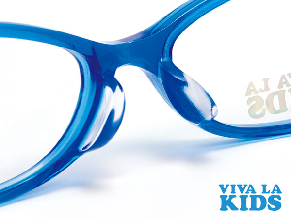 (写真2)VIVA LA KIDS(ビバ・ラ・キッズ)にはフレームと一体型のノーズパッド(鼻あて)が採用されている。image by Aigan