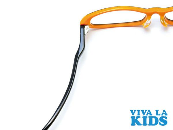 (写真4)VIVA LA KIDS(ビバ・ラ・キッズ)のテンプル(つる)の素材には、軽さと弾力性、安全性に優れた TR-90 が使われている。image by Aigan