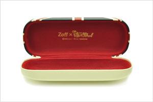 Zoff×映画「けいおん!」コラボダテメガネ 平沢 唯(ひらさわゆい)モデル。ケースの内張は赤。