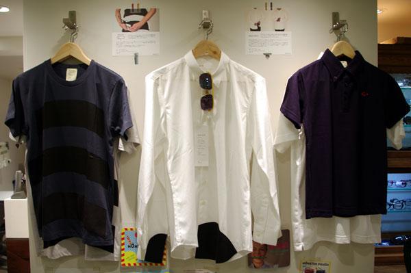 (写真6)袖口などにメガネ拭きがついていて、メガネやケータイが拭けるシャツ~ wipe shirt(ワイプ シャツ)。 image by GLAFAS【クリックして拡大】