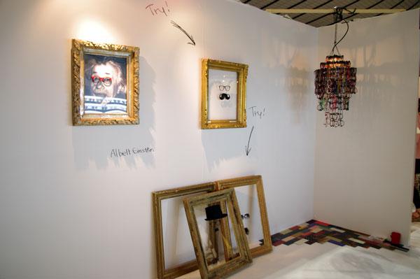 (写真23)rooms25「eyewear area」の入口にはこんなスペースが。image by GLAFAS【クリックして拡大】