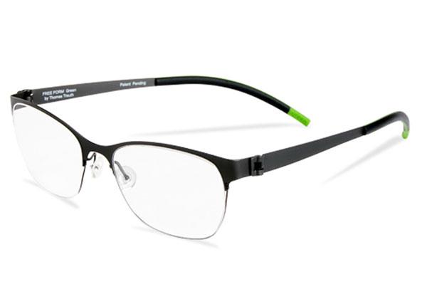(写真9)眼鏡 [フリーフォーム グリーンコレクション]。環境に配慮して作られたメガネフレーム。