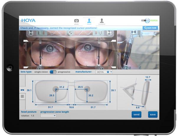 (写真)iPad アプリ版「VisuReal portable」の画面。