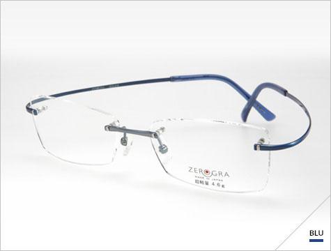 (写真2)眼鏡市場 ZEROGRAⅡ(ゼログラツー)ZEG-016 刻[koku]。 カラー:PU、BLU(写真)。価格:18,900円(レンズ込み)。