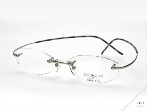 (写真3)眼鏡市場 ZEROGRAⅡ(ゼログラツー)ZEG-017 季[ki]。 カラー:PU、BLU(写真)。価格:18,900円(レンズ込み)。