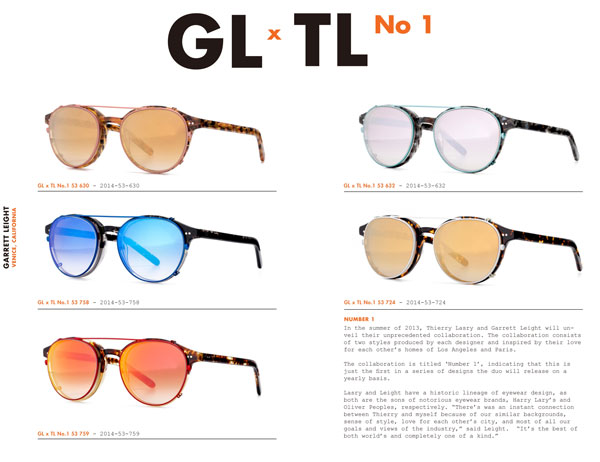 GL×TL No.1は、GLCO(ジーエルシーオー)とThierry Lasry(ティエリー ラスリー)とのコラボ。各:39,900円。image by Continuer【クリックして拡大】