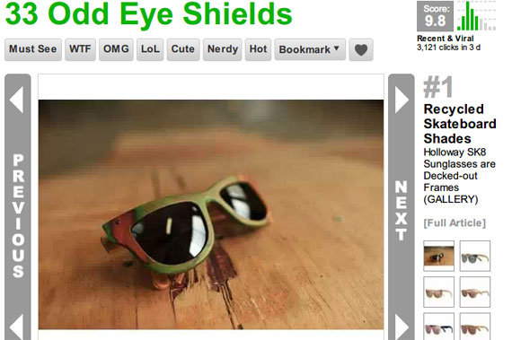 33 Odd Eye Shields - From Antlered Eyeware Accessories to Retro Hypnotizing Shades