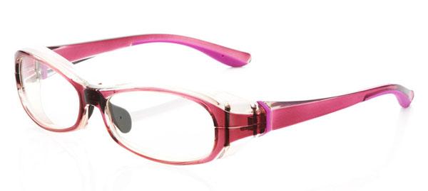 「花粉らくらく君」KF-001 カラー:クリアピンク。価格:5,800円(度付きレンズ込み、2013年3月末までの限定価格)。