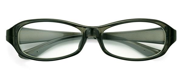 「花粉らくらく君」KF-001 カラー:クリアグレー。価格:5,800円(度付きレンズ込み、2013年3月末までの限定価格)。