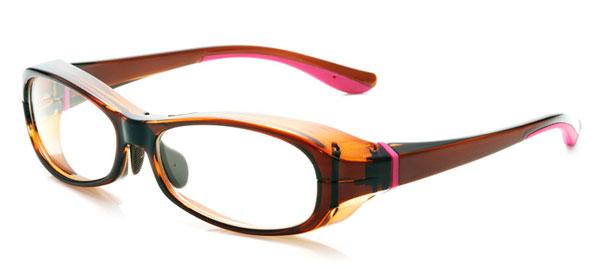 「花粉らくらく君」KF-001 カラー:ライトブラウン。価格:5,800円(度付きレンズ込み、2013年3月末までの限定価格)。