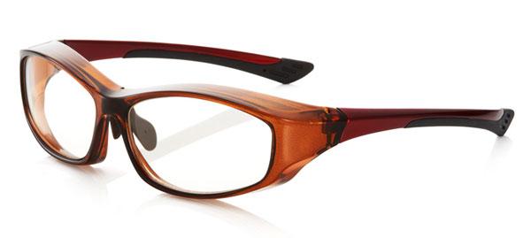 「花粉らくらく君」KF-002 カラー:クリアブラウン。 価格:5,800円(度付きレンズ込み、2013年3月末までの限定価格)。