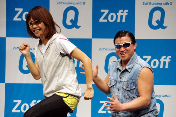 (左)高橋尚子さん。(右)スギちゃん。