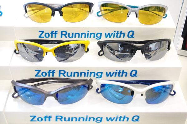 「Zoff Running with Q(ゾフ ランニング ウィズ キュー)」【クリックして拡大】