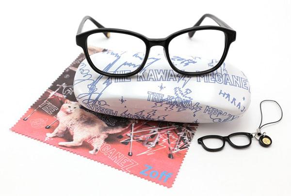 THE KAWAII MEGANEZ(ザ・カワイイ メガネズ)武智志穂モデル。全3色。価格:5,250円(標準レンズ付き)。専用ケース、メガネ拭き、チビメガネストラップもセット。image by インターメスティック