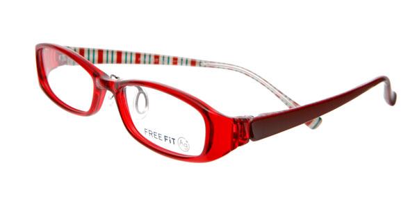眼鏡市場 FREE FIT Ag+(フリーフィット・エージープラス)FFT-022 カラー:RE。価格:15,750円(レンズ込み)。image by メガネトップ【クリックして拡大】