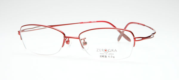 眼鏡市場 ZEROGRA(ゼログラ)ZEG-020「奏(かなで)」 カラー:RE(写真)・PX・BR・GR 価格:18,900円(レンズ込み) image by メガネトップ【クリックして拡大】