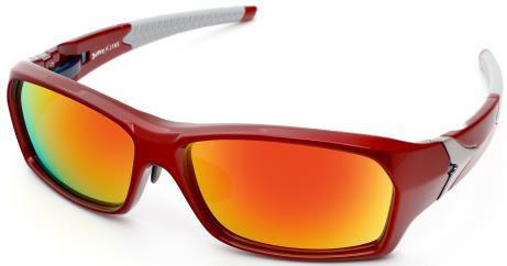 ウルトラマン × JINS(ウルトラマン × ジンズ)「ウルトラセブン」モデル MRN-13-675(サングラス) カラー:05(RED・写真)・96(SILVER)・97(BLACK) 価格:5,990円(度付きレンズへの交換不可) image by JINS