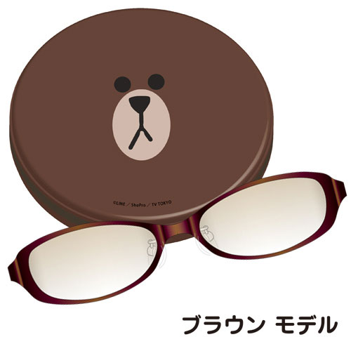 LINE × Coolens PCメガネ(BROWN)