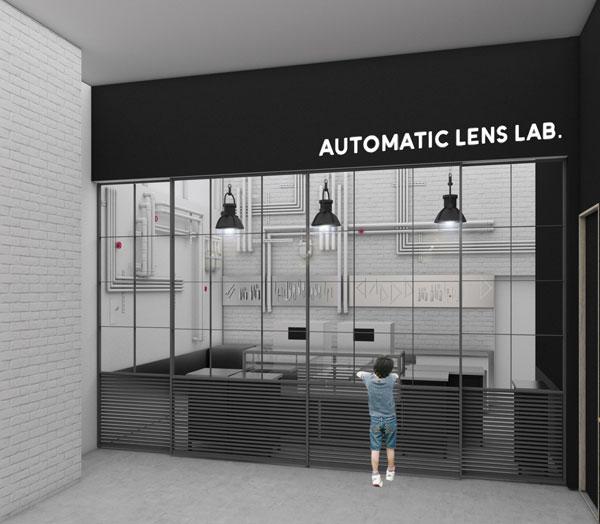 JINS 広島本通店に設置される JINS AUTOMATIC LENS LAB.(ジンズオートマティックレンズラボ)のイメージ。 image by ジェイアイエヌ