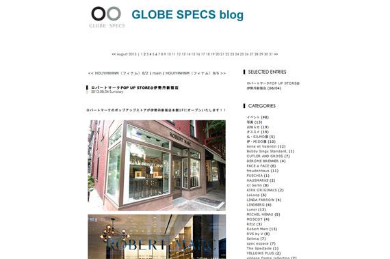 ロバートマークPOP UP STORE@伊勢丹新宿店 | GLOBE SPECS blog