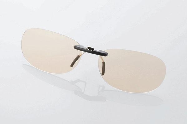 エレコム PC GLASSES(眼鏡装着タイプ)「ブラウンレンズモデル」 OG-CBLP01BRS〈Sサイズ〉 image by ELECOM 【クリックして拡大】