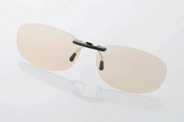 エレコム PC GLASSES(眼鏡装着タイプ)「ブラウンレンズモデル」 OG-CBLP01BRM〈Mサイズ〉 image by ELECOM 【クリックして拡大】