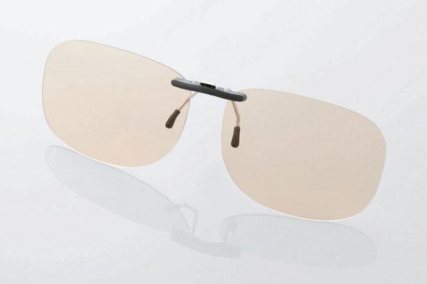 エレコム PC GLASSES(眼鏡装着タイプ)「ブラウンレンズモデル」 OG-CBLP01BRL〈Lサイズ〉 image by ELECOM 【クリックして拡大】
