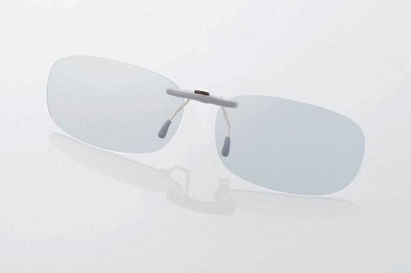エレコム PC GLASSES(眼鏡装着タイプ)「グレーレンズモデル」 OG-CBLP01GYS〈Sサイズ〉 image by ELECOM 【クリックして拡大】