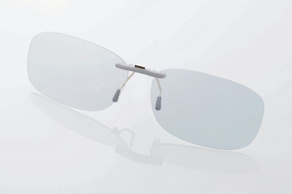 エレコム PC GLASSES(眼鏡装着タイプ)「グレーレンズモデル」 OG-CBLP01GYM〈Mサイズ〉 image by ELECOM 【クリックして拡大】