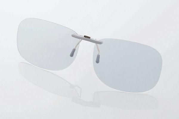 エレコム PC GLASSES(眼鏡装着タイプ)「グレーレンズモデル」 OG-CBLP01GYL〈Lサイズ〉 image by ELECOM 【クリックして拡大】